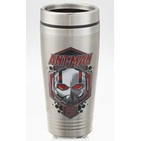 ANT-MAN AND WASP DOUBLE WALL STAINLESS STEEL SILVER TRAVEL TUMBLER 16oz