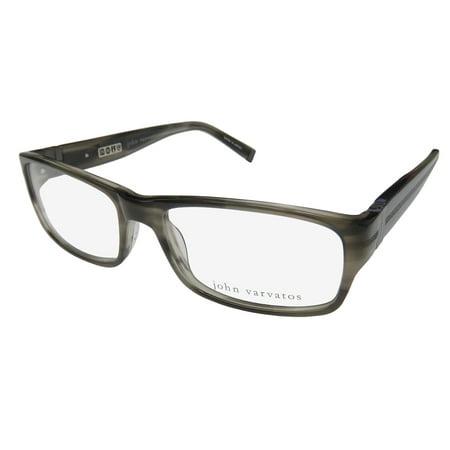 New John Varvatos V339 Mens Designer Full-Rim Gray Frame Demo Lenses ...