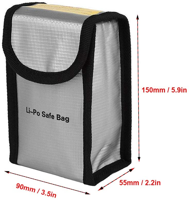 2 in 1 Battery Explosion-Proof Bag for DJI New Action Durable
