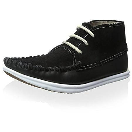 ohw? Men's Louis Hightop Sneaker, Black Raven, 9 M US