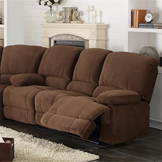AC Pacific KEVIN-II-BROWN-DRS Kevin Brown Reclining Living Room Sofa - 39 x 82 x 36 in.