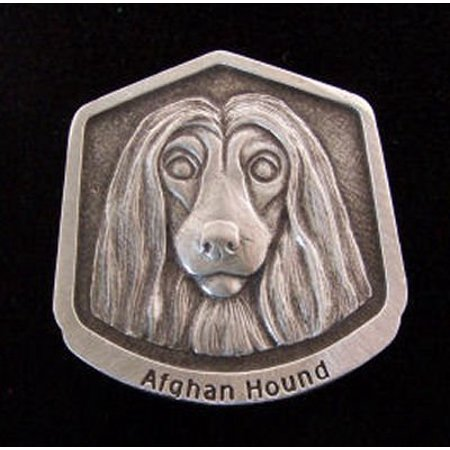 Afghan Hound Fine Pewter Dog Breed Ornament The sculpted image of your pet is surrounded with a wreath of holly and ivy. You will treasure this ornament for years to come. hey are made of Fine Pewter and come in a Christmas gift box for storing. Lindsay Claire is a Canadian manufacturer of Fine Pewter Gifts and Collectibles.  Each pewter item is cast in our shop from fine pewter and meticulously hand polished to a satin finish.Ornament is approximately 3  and has a satin cord attached for hanging.