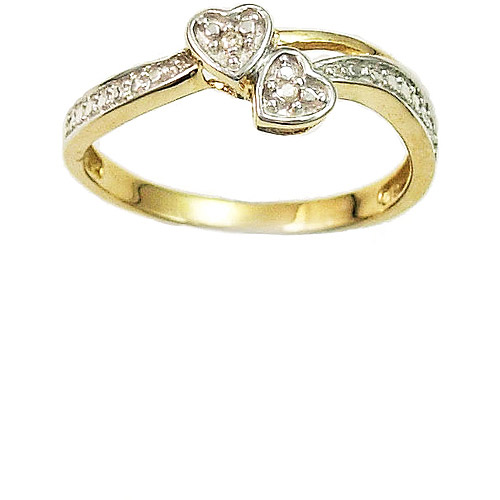10kt Yellow Gold Diamond Accent Promise Ring