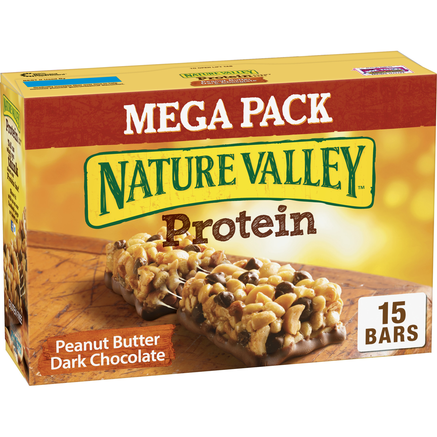 Nature Valley Protein Chewy Bars Peanut Butter Dark Chocolate, 21.3 oz