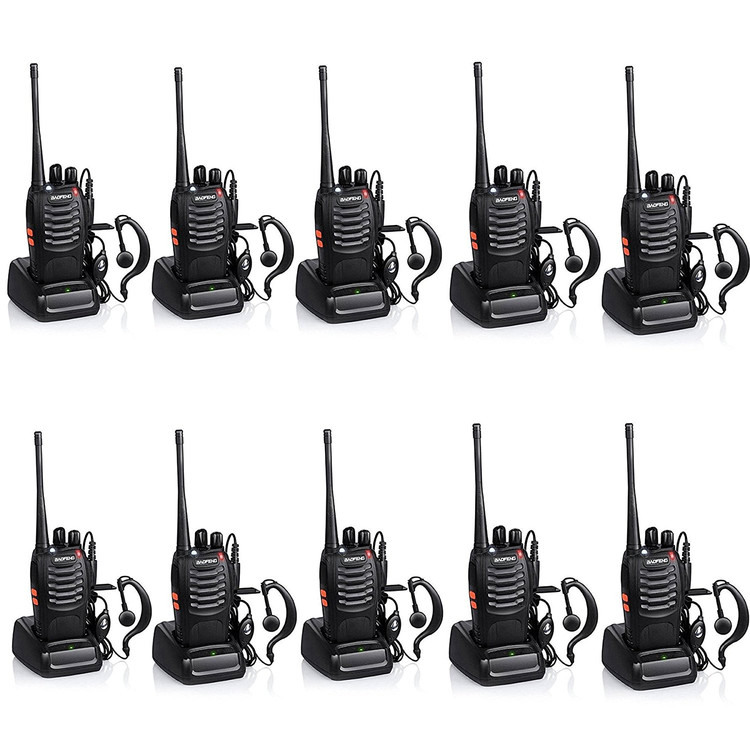 Walkie-Talkie 2-Way Radios,UHF Handheld Radio, BaoFeng BF-888S Two Way Radio with Built in... by highflow