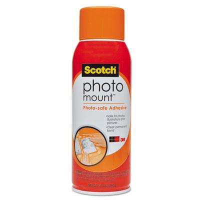 Photo Mount Spray Adhesive, 10.25 oz, Aerosol, Sold as 1 Each by SCOTCH