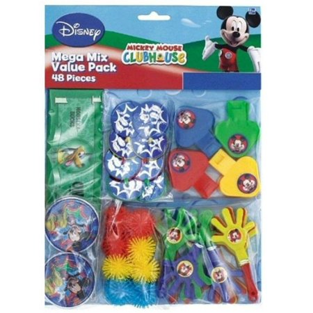Party Favors - Mickey Mouse - Mega Mix Value Pack - 48pc Set](Mickey Mouse Party Decor)