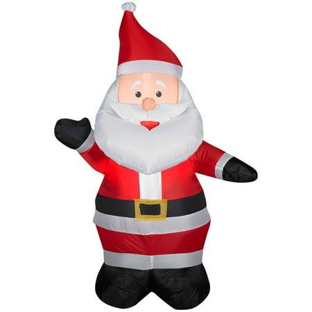 3 ft 6 in LED Santa Airblown - Inflatable Santa
