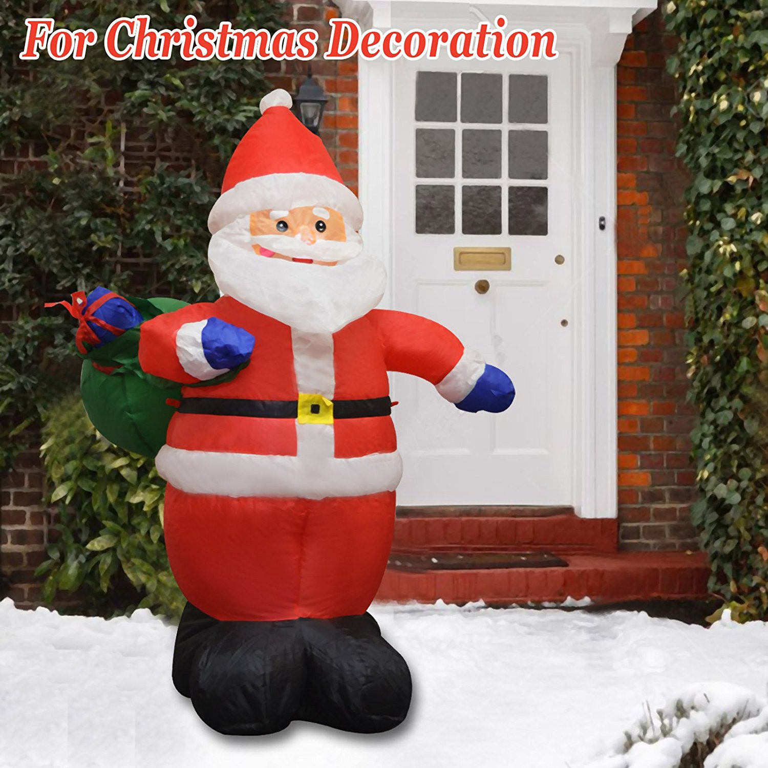 Strong Camel Christmas Air Blown Inflatable 4' Santa Claus Lighted Outdoor Yard Decor