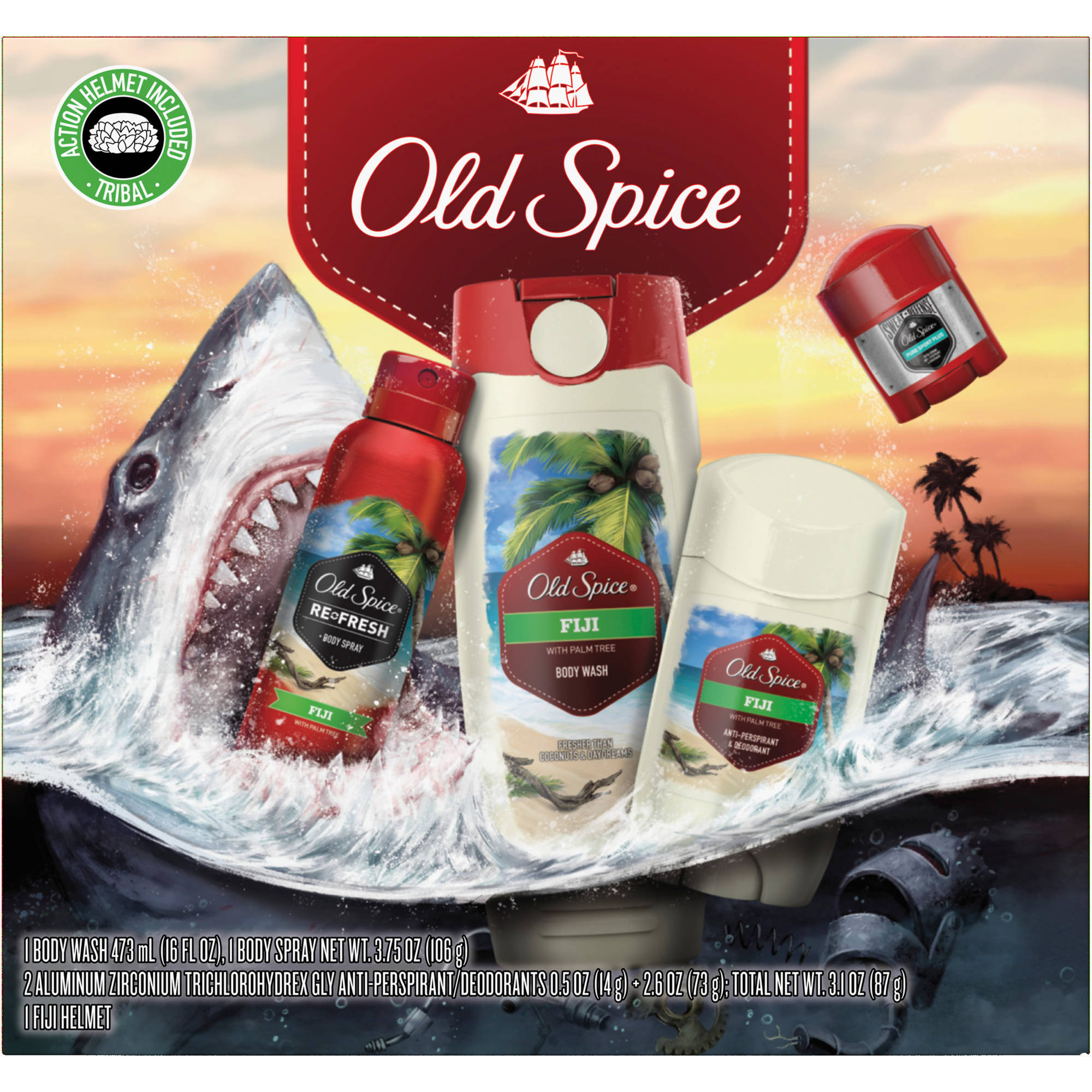 Old Spice Fiji Holiday Pack, 5 pc