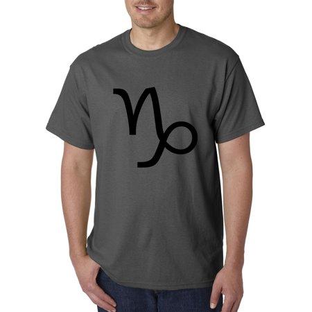 Red Goat (New Way 957 - Unisex T-Shirt Capricorn Symbol Zodiac Sign The Sea Goat 3XL Charcoal )