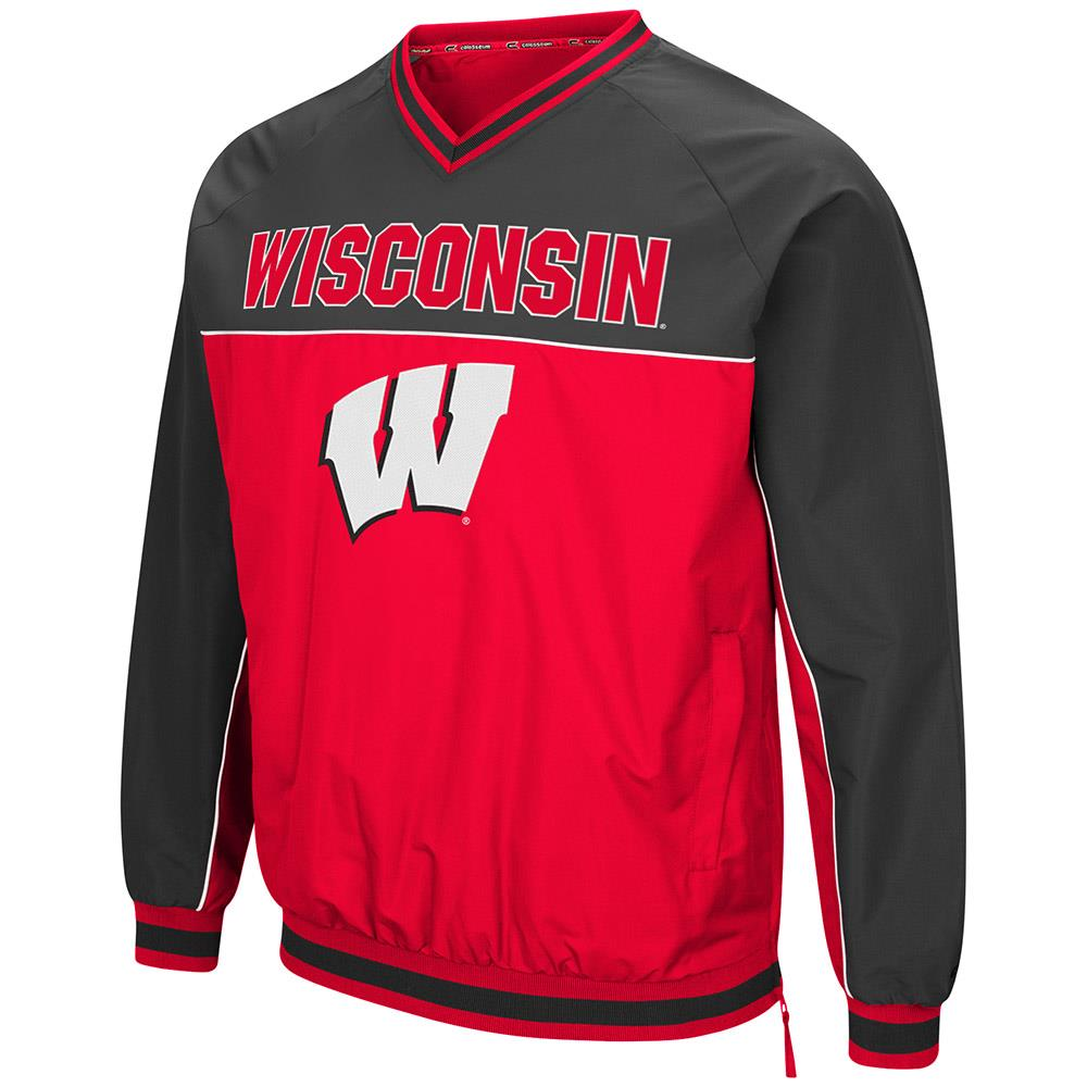 Mens Wisconsin Badgers Windbreaker Jacket L by Colosseum