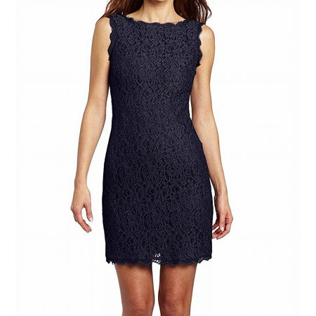 8ffe99e20 Adrianna Papell Dresses - Adrianna Papell Women s Scallop Lace Sheath Dress  - Walmart.com