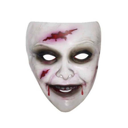 Transparent Zombie Mask Female Halloween Costume Accessory