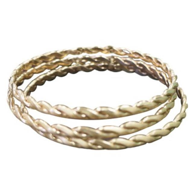 C Jewelry Gold Twist Bangles Set Of 3 Pieces