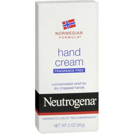 Neutrogena Norwegian Formula Hand Cream Fragrance-Free 2 oz (Pack of 4)
