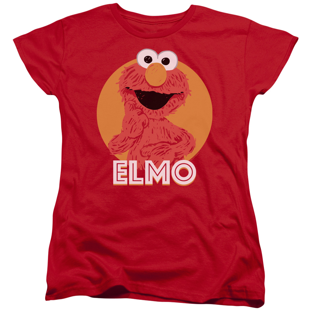Sesame Street Elmo Scribble Womens Short Sleeve Shirt