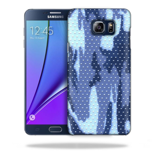 MightySkins Snap-On Protective Hard Case Cover for Samsung Note 5 Blue Camo