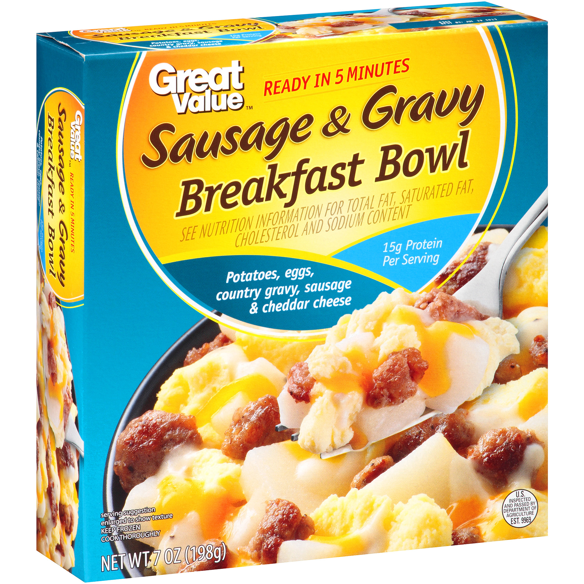Great Value Sausage & Gravy Breakfast Bowl, 7 oz