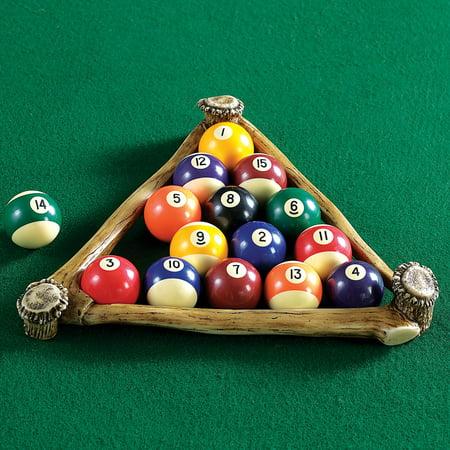 Antler Pool Ball Rack - Wilderness Decor (Antler Decorations)