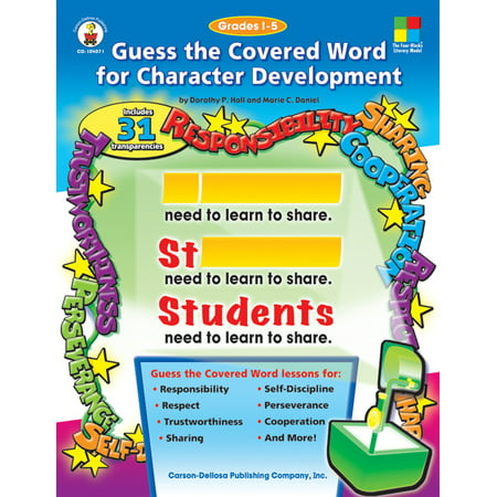Guess the Covered Word for Character Development, Grades 1 -