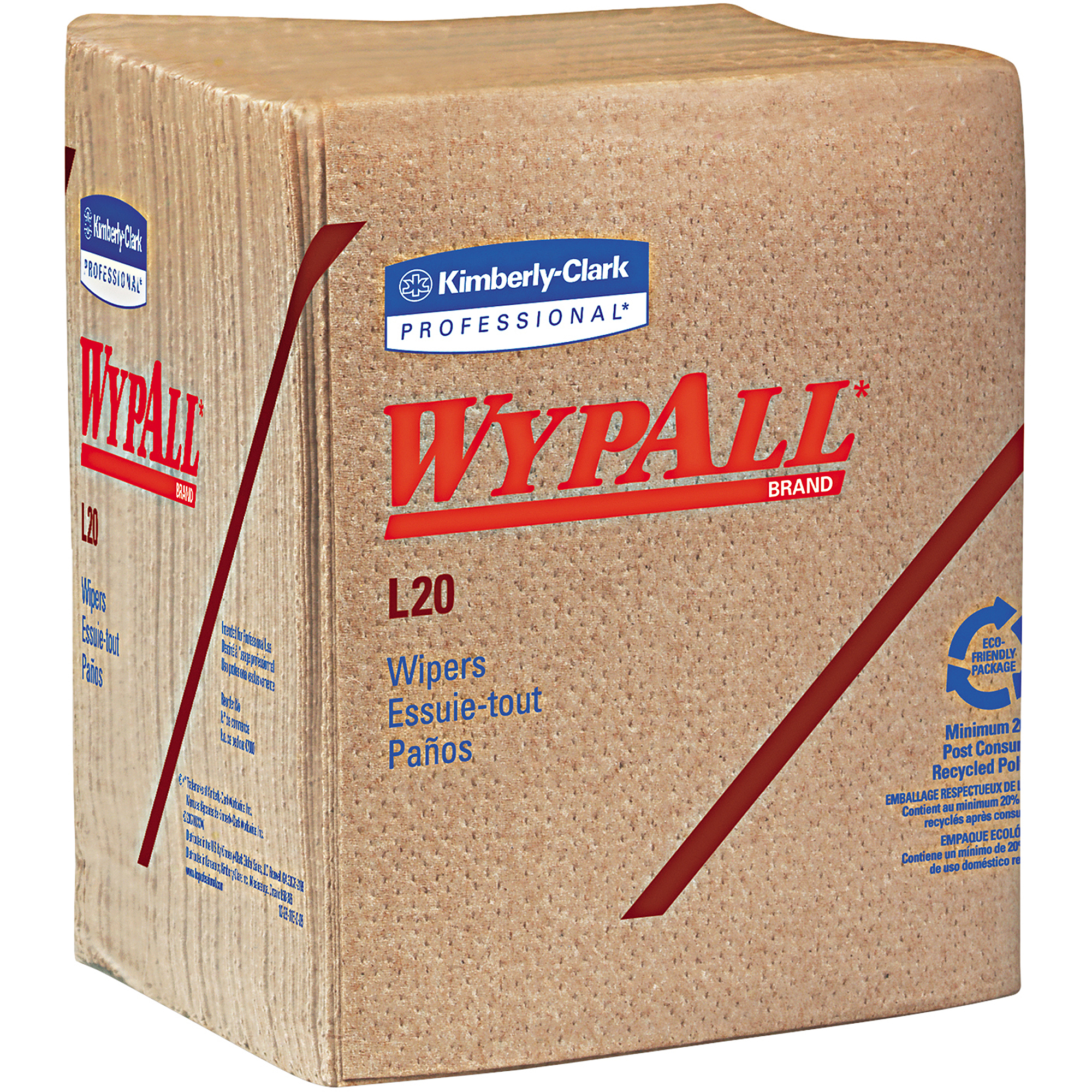 Kimberly-Clark Professional Wypall L20 Wipers, 68 sheets, (Pack of 12)