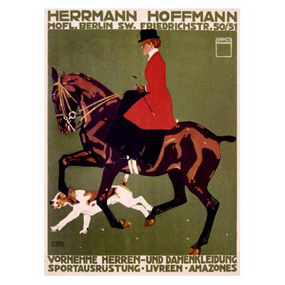 Artehouse Fine Art Print Berlin Horse Show Hunter Jumper By Artist Ludwig Hohlwein Archival Paper 32 X 44