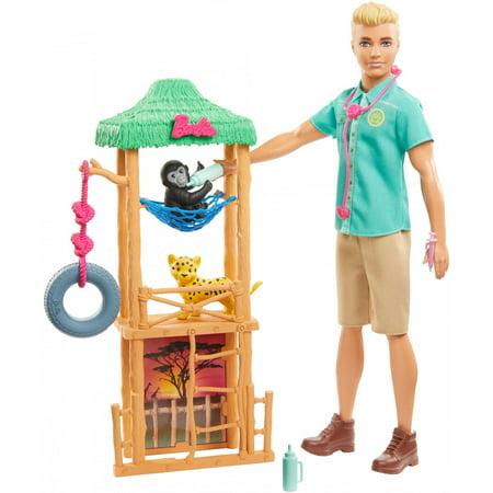 Barbie You Can Be Anything Wildlife Veterinarian Ken Doll