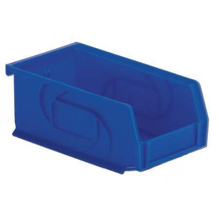 Lewisbins 25 lb Capacity, Hang and Stack Bin, Blue PB74-3 (Tire Stack)