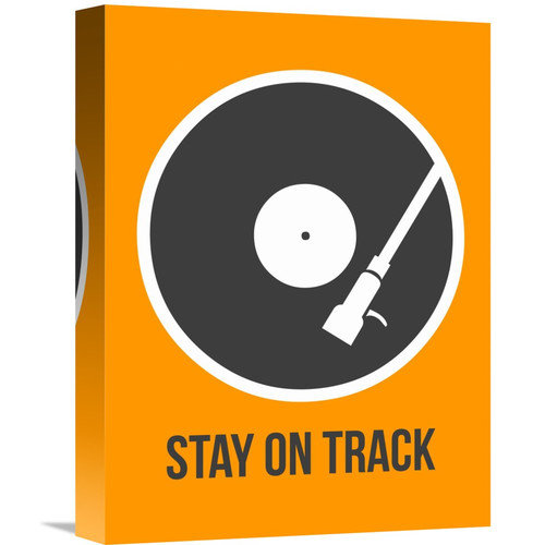 Naxart 'Stay On Track Vinyl 1' Graphic Art on Wrapped Canvas