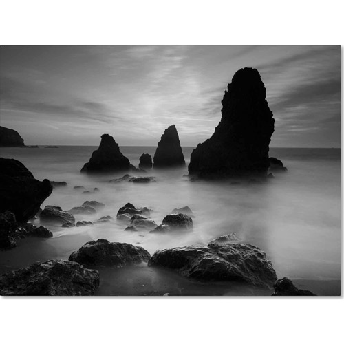 "Trademark Fine Art ""Rodeo Beach I Black and White"" Canvas Art by Moises Levy"
