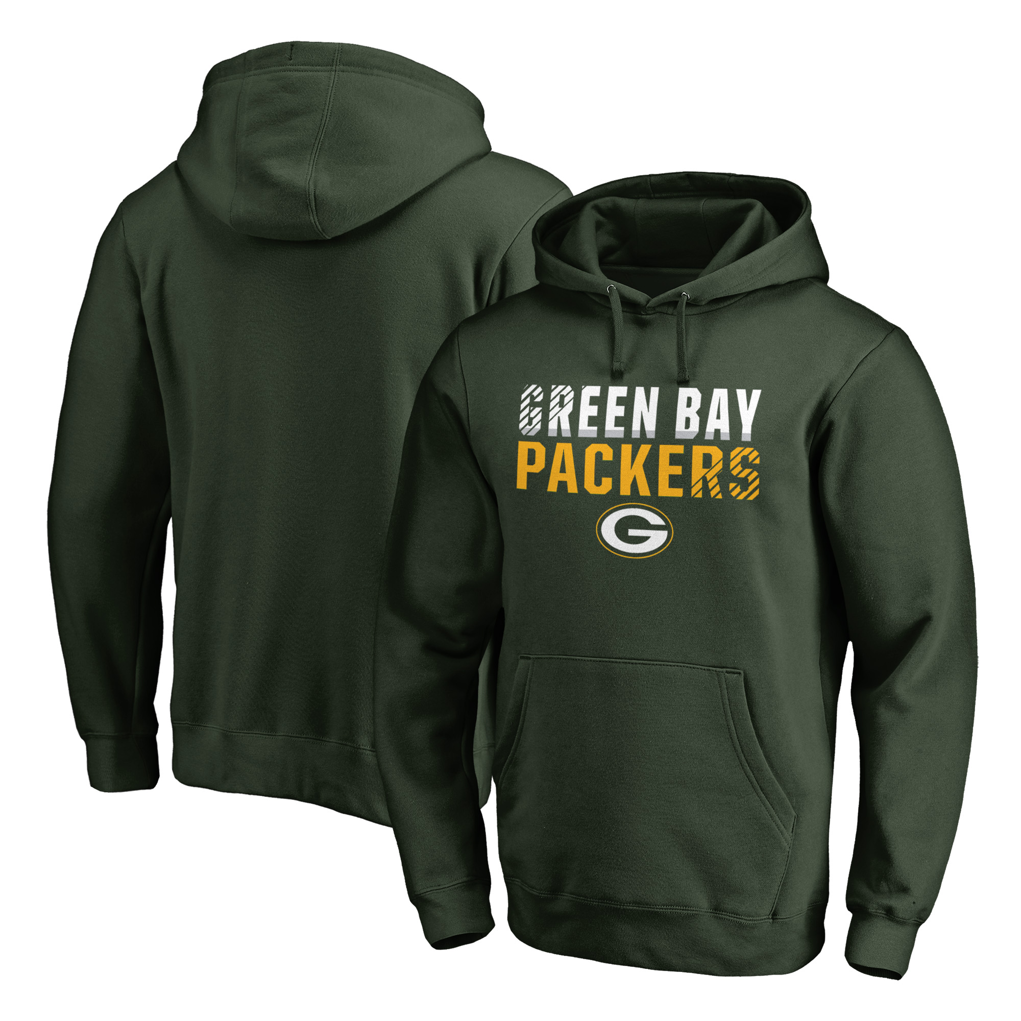 Green Bay Packers NFL Pro Line by Fanatics Branded Iconic Collection Fade Out Pullover Hoodie - Green