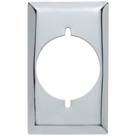 Pass & Seymour S384C Smooth Chrome Wall Plate, Single Gang for Power Outlet (Chrome Plated Single)