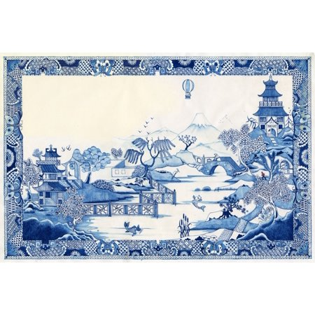 Blue Willow Poster Print by Colin Thompson