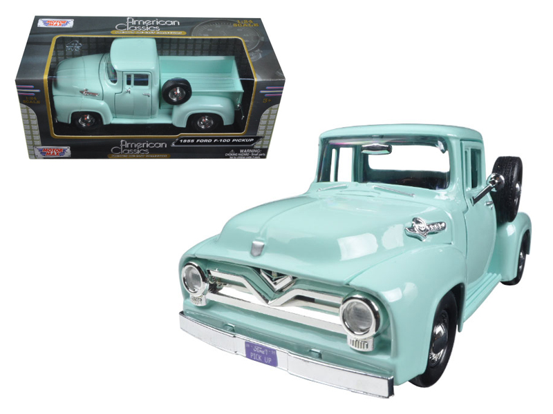 1955 Ford F-100 Pickup Truck Light Green 1 24 Diecast Model Car by Motormax by Motormax
