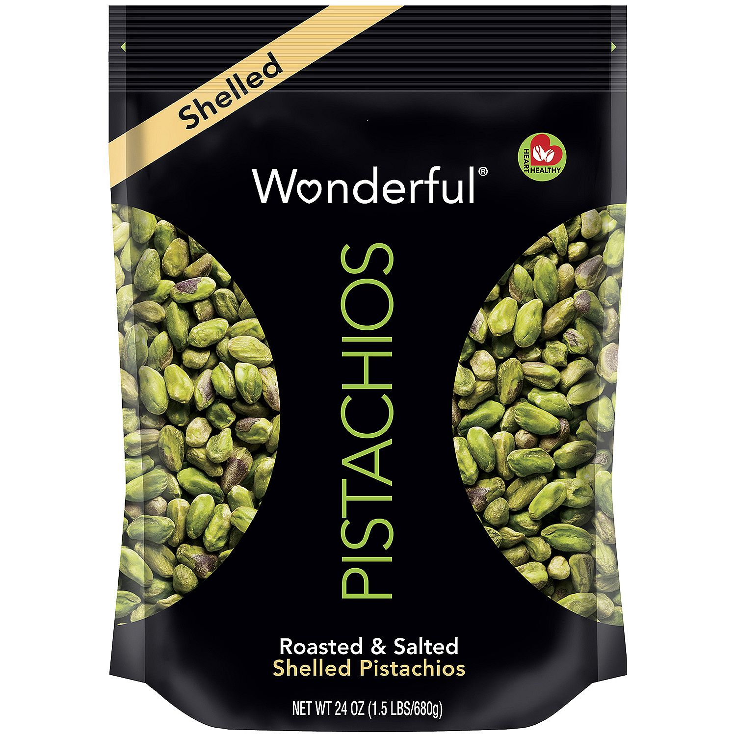 Product of Wonderful Shelled Pistachios (24 oz.)- Pack of 2 - Nuts & Trail Mixes [Bulk Savings]