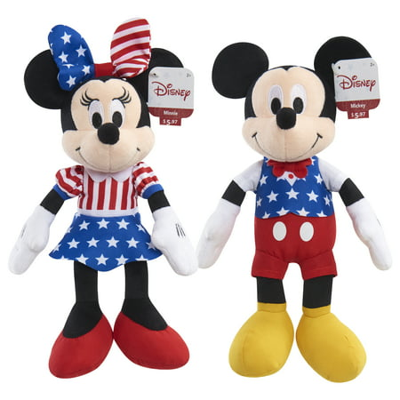 Disney Patriotic Bean Plush Mickey & Minnie - 2 Pack Bundle](Minnie Y Mickey Halloween)