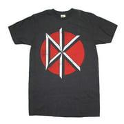 Rockline IM-DK21-L Dead Kennedys Distressed Logo Adult Mens T-Shirt, Charcoal Gray - Large