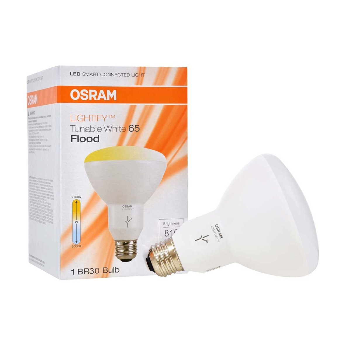 Sylvania Osram Lightify Smart Home 65W BR30 Tunable Warm White LED Flood Light