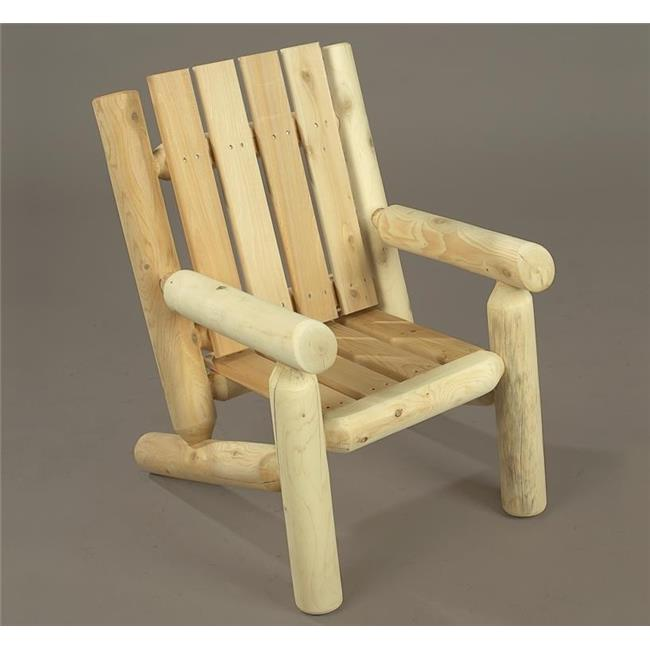 Rustic Natural Cedar Furniture 01004JR Junior Log Chair