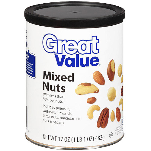 GREAT VALUE 17OZ MIXED NUTS