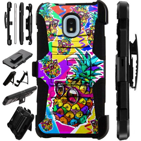 Luxguard Phone Case Cover For Samsung Galaxy J7V (2018) | J7 Areo | J7 Top | J7 Star (Pineapple Party) - Party Galaxy Okc