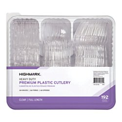 Office Depot Brand Extra Heavy Duty, Plastic Forks, Knives  Spoons, 3585490692