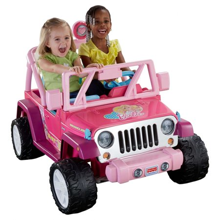 Power Wheels Barbie Jammin Jeep Wrangler 12 Volt Battery Powered Ride On  Pink