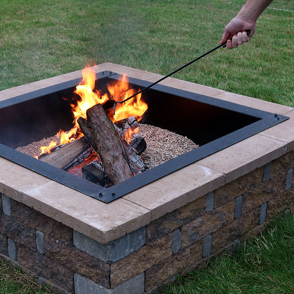 Sunnydaze Steel Fire Pit Poker Stick, Outdoor Camping Fireplace Tool, 26 Inch Long