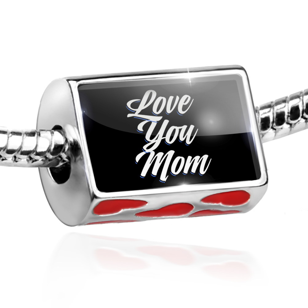 Bead Classic design Love You Mom Charm Fits All European Bracelets