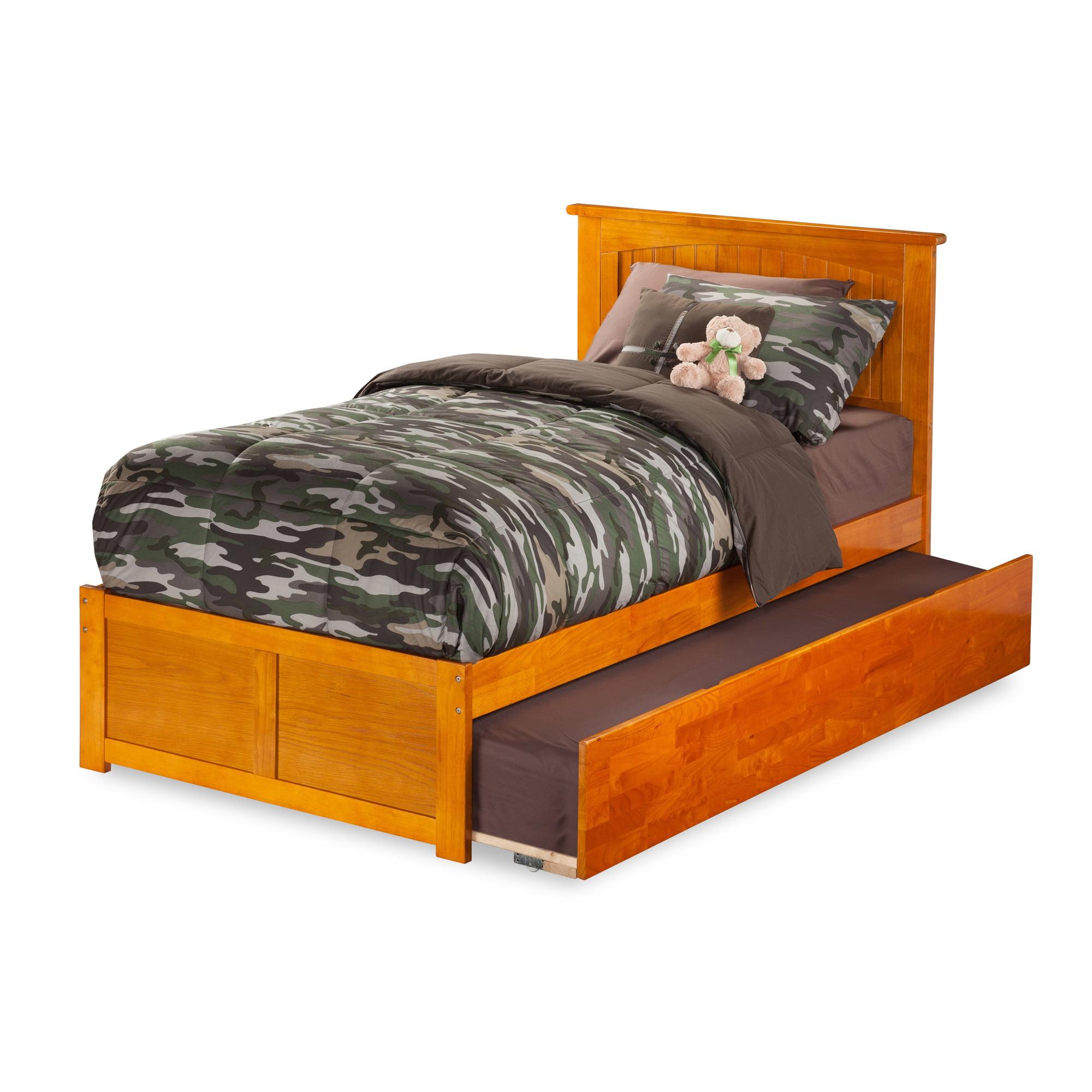 Atlantic Furniture Atlantic Nantucket Caramel Latte Twin Flat-panel Footboard Trundle Bed by Overstock