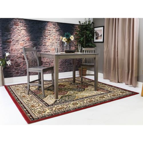 Square Area Rugs Cambridge Light Pinkivory 8 Ft X 8 Ft