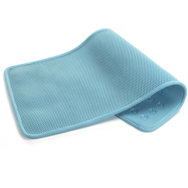 Airia Basics Deluxe Quick-Dry Tub Mat, Aqua - Walmart.com