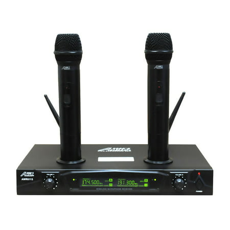 Audio 2000s AWM6113 Dual Channel Rechargeable VHF Wireless Microphone (Best Wireless Microphone System)